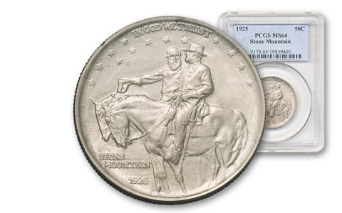 1925-P 50 Cent Stone Mountain NGC PCGS MS64