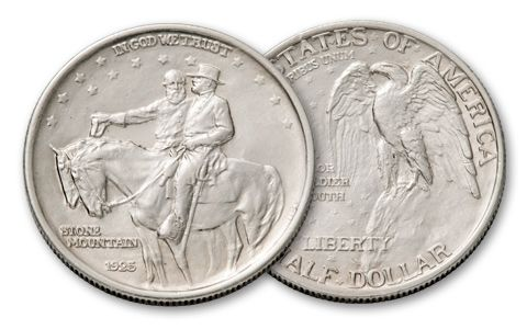 1925 50 Cent Stone Mountain Commemorative AU