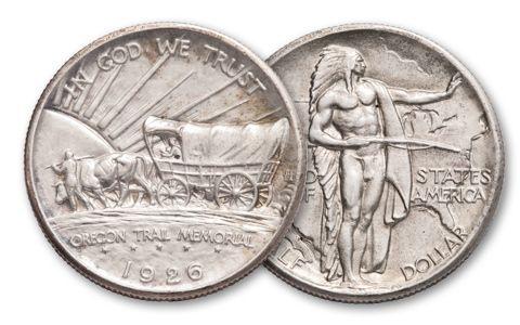 1926-1939 50 Cent Oregon Trail Commemorative AU BU