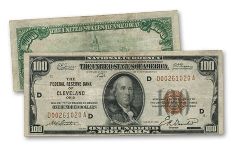 1929 100 Dollar Federal Reserve Bank Note Fine