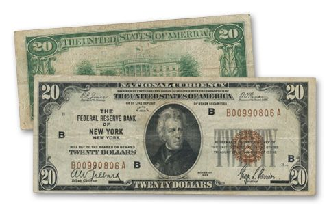 1929 20 Dollar Federal Reserve Bank Note Fine