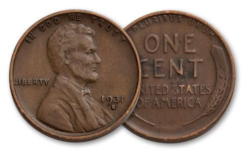1931-S 1 Cent Lincoln Cent XF