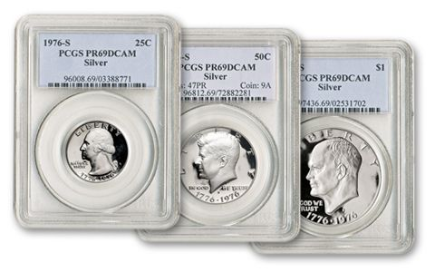 1976 Bicentennial Silver U.S. Proof Set PCGS-PR69 DCAM