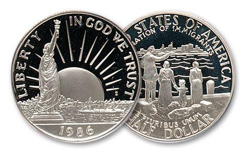1986-S 50 Cent Statue of Liberty Centennial Proof