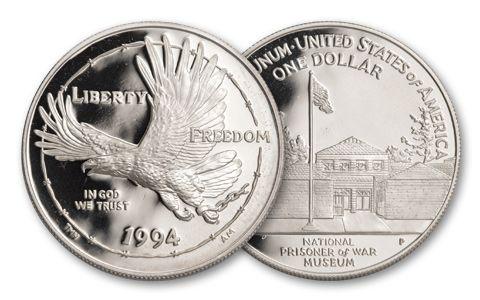 1994-P 1 Dollar Prisoners Of War Museum Silver Proof