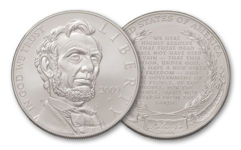 2009 1 Dollar Abraham Lincoln Commemorative BU