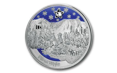 2012 10 Dollar Silver Silent Night Music Proof