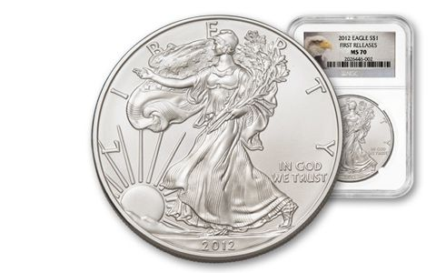 2012 1 Dollar 1-oz Silver Eagle NGC MS70 First Release