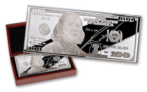 2013 100 Dollar 1-oz Franklin Silver Proof