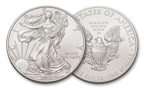 2013 1 Dollar 1-oz Silver Eagle BU