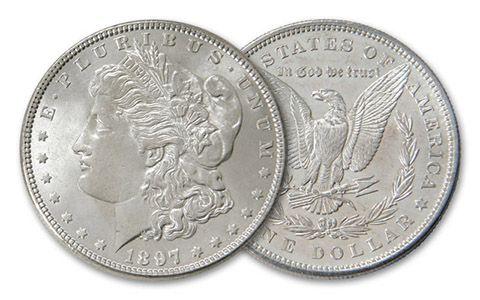 1897-P Morgan Silver Dollar BU