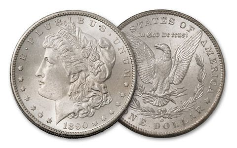 1890-O Morgan Silver Dollar BU