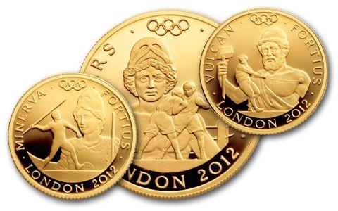 2012 London Olympics Gold Stronger Set NGC PF70
