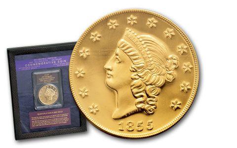 1855 50 Dollar Kellogg Restrike GEM Proof