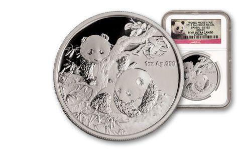 2013 China 1-oz Silver Panda Medal NGC PF69 Berlin Show