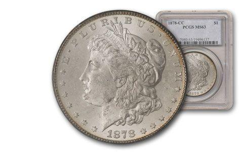 1878-CC Morgan Silver Dollar PCGS MS63