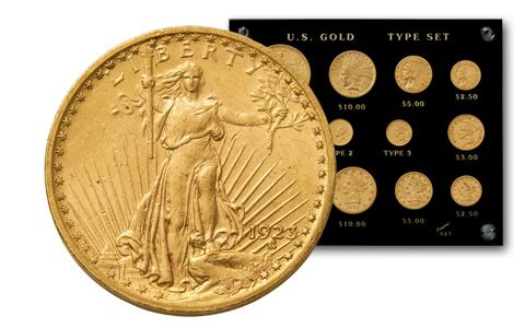 U.S. Gold Type Set Collection XF/AU - 12 Pieces
