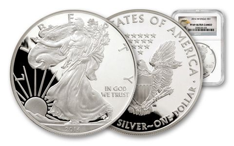 2014 1 Dollar 1-oz Silver Eagle NGC PF69 Ultra Cameo Proof