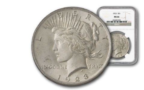 1923 Peace Silver Dollar NGC MS66
