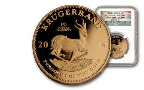2014 Krugerrand 1-oz Mintmark Gold Proof NGC PF70