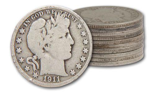 1892-1915 50 Cent Barber G-VG Set