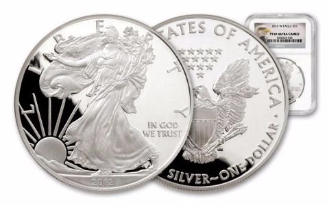 2012 1 Dollar 1-oz Silver Eagle NGC/PCGS Proof 69