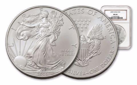 2009 1 Dollar 1-oz Silver Eagle NGC/PCGS MS69