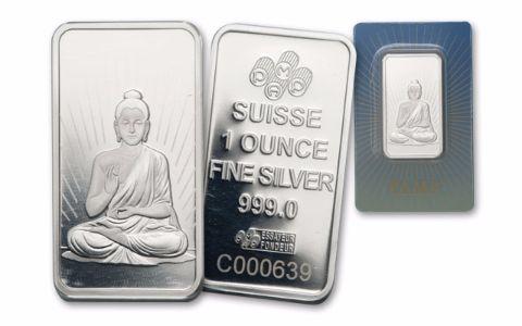 Pamp Suisse 1-oz Silver Buddha Bar