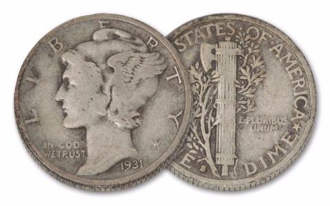 1931-S 10 Cents Mercury X-XF