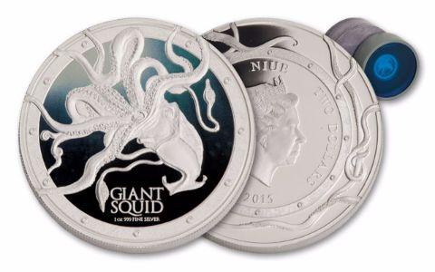 2015 Niue 1-oz Silver Giant Squid Proof