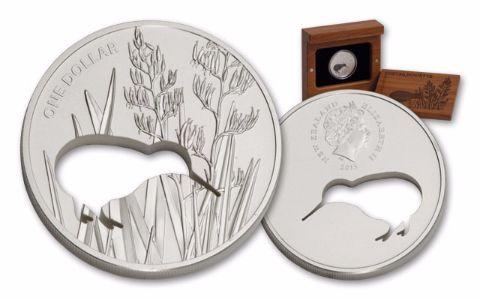2015 New Zealand 1-oz Silver Kiwi Silhouette Coin