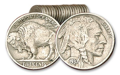 Buffalo Nickel 20 Pieces