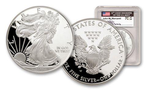 2013 1 Dollar 1-oz Silver Eagle PCGS PR69 Mercanti