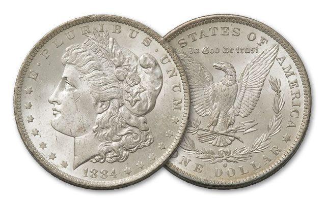1884-O Morgan Silver Dollar BU