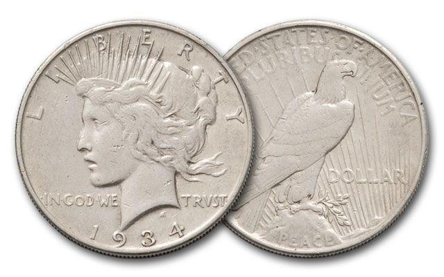 1934-S Peace Dollar XF