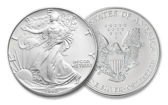 1997 1 Dollar 1-oz Silver Eagle BU