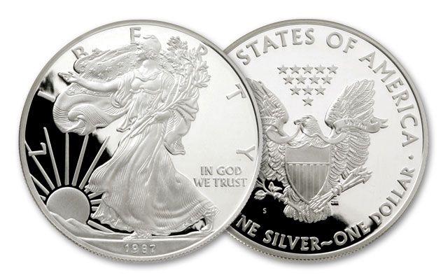 1987 S 1 Dollar 1 Oz Silver Eagle Proof Govmint Com