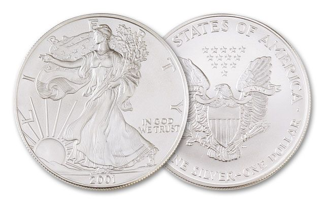 2001 1 Dollar 1-oz Silver Eagle BU