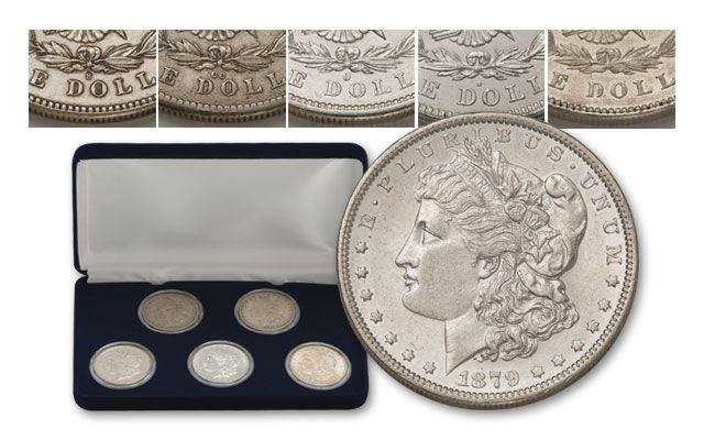 1878-P - 1921-D First Year Morgan Mintmark Collection XF 5pc