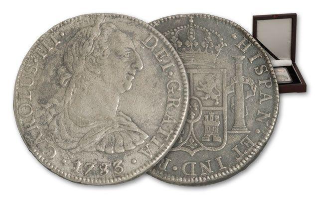 1772-1783 Spain 8 Reales NGC Genuine El Cazador