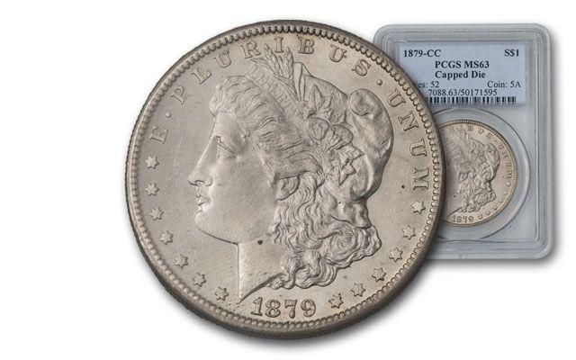1879-CC Morgan Silver Dollar PCGS MS63 Capped Die