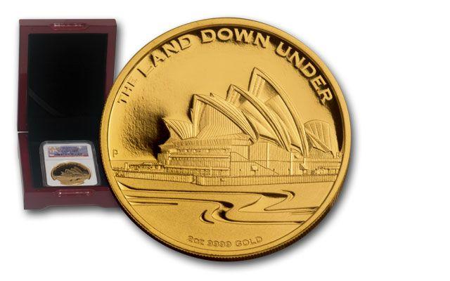 2013 Australia 2-oz Gold Sydney Opera House NGC PF70 First Struck Box #1