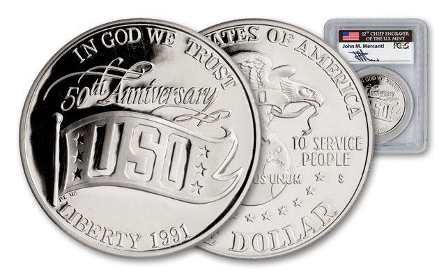 1991-S 1 Dollar Silver USO PCGS PR69DCAM Mercanti