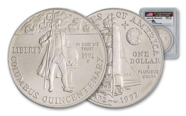 1992-D 1 Dollar Columbus Quincentenry PCGS MS69 Mercanti