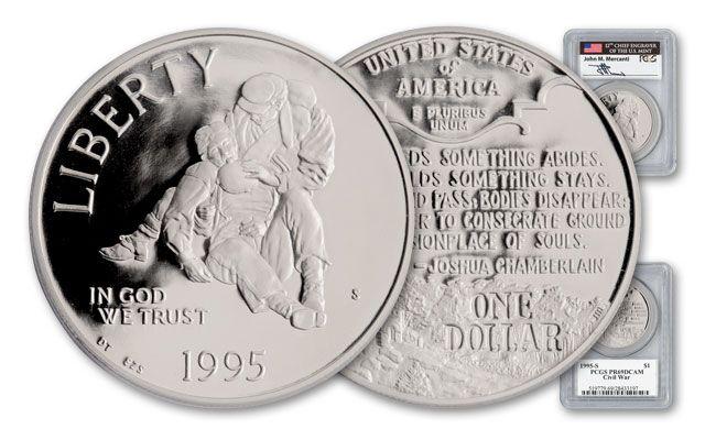 1995 Civil War Battlefield Mercanti Signed Commemorative