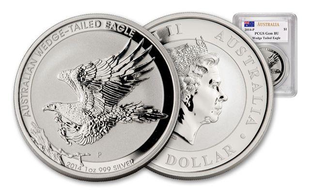 2014 Australia 1-oz Wedge Tailed Silver Eagle PCGS GEM BU