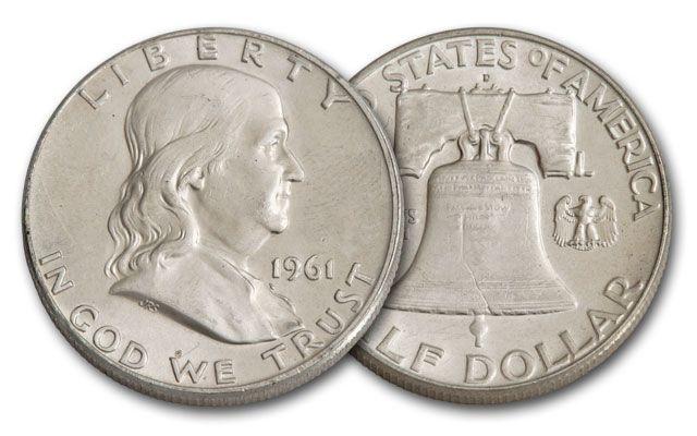 1961-D Half Dollar Silver Franklin BU
