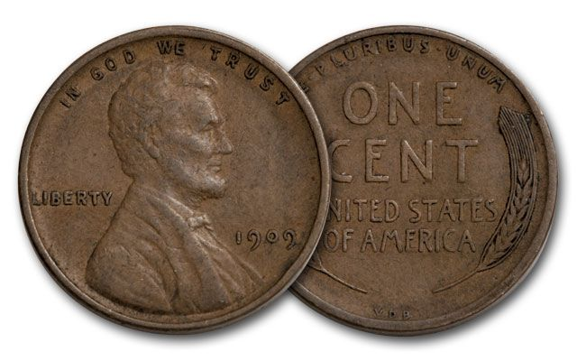 1909 1 Cent Lincoln VDB VF