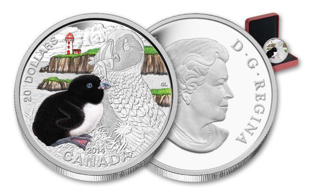 2014 Canada 20 Dollar Baby Animals Atlantic Puffin Proof