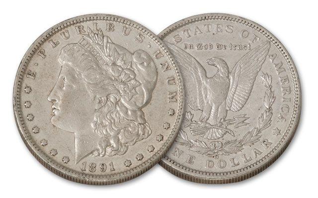 1891-O Morgan Silver Dollar XF